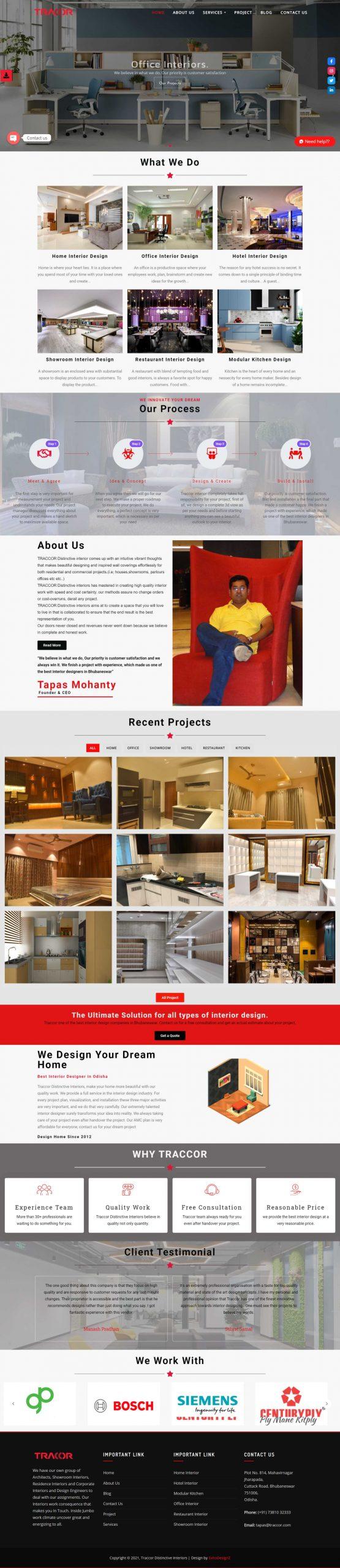 traccor website